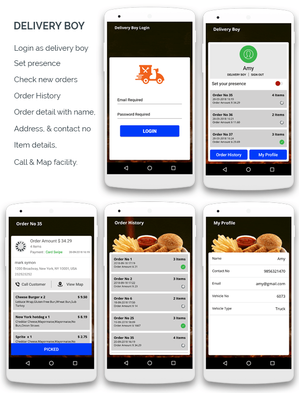 KING BURGER restaurant with Ingredients & delivery boy full android application - 2