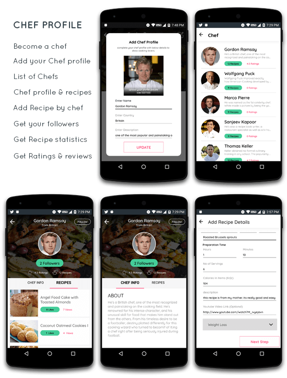 Food Recipe android app with add recipe by chef - 2